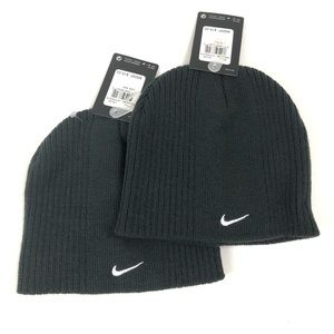 NIKE Young Bundle-2 Beanies Cold Gear Hat Sz 8/18